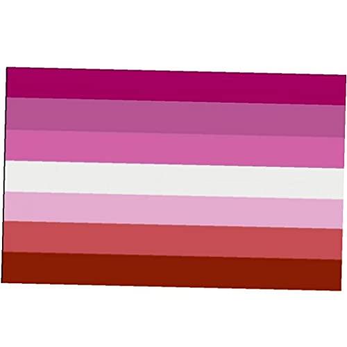 Zonster Banderas Bandera Les Orgullo LGBT Lesbianas Nueva Puesta del del De La Bandera del Tinte Resistente a La Decoloración Se Utiliza para Vivid Color Completo del Orgullo De La