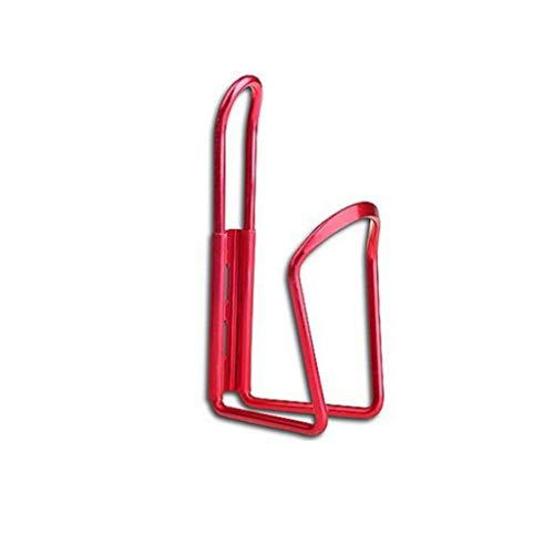 LGLG Portabotellas para bicicleta (varios colores disponibles), aleación de aluminio, fuerte y duradero, color rojo