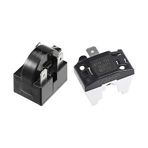 QINGRUI Zubehörwerkzeuge Kühlschrank Starter-Relais 12 Ohm 3 Pin + Compressor Überlastschutz 1 / 3HP Stabile Leistung