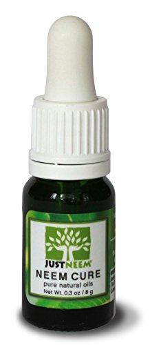 JustNeem Neem Cure Oil - Natural - Best on Acne, Psoriasis,...