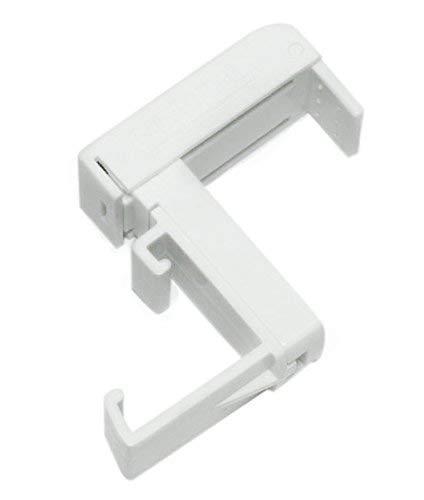 Gardinia Soportes para persianas, 2Unidades, Montaje sin Tornillos y taladrar, Color Blanco, Plástico, Rango de Ajuste 6–30mm