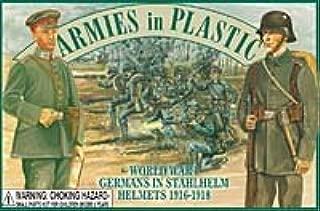 Germans in Stahlhelm Helmets (20) 1-32 Armies in Plastic