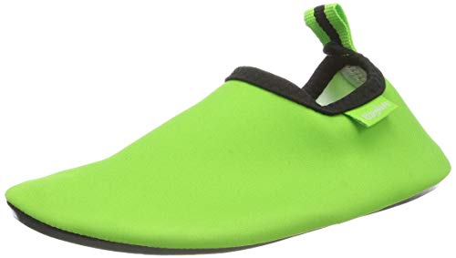 Playshoes Unisex-Kinder Badeslipper Aqua-Schuhe, Grün (grün), 28/29 EU