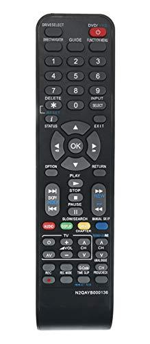 VINABTY N2QAYB000136 Replaced Remote Fit for Panasonic DVD Recorder DMR-EZ48V DMR-EZ47V DMR-EZ485V