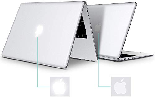 Belk Hülle MacBook Pro 13 Zoll 2020-2016 mit/ohne Touch Bar A2338 M1 A2289 A2251 A2159 A1989 A1708 A1706, Ultradünne Plastik Hartschale Case Cover & Tastaturschutz & Schutzfolie, Kristall Klar