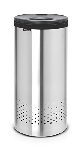 Brabantia 103469 Wäschebox 35 L Kunststoffdeckel in Dark Grey, matt steel