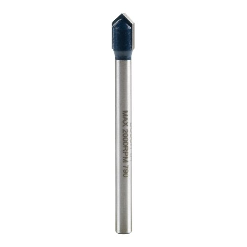 Bosch GT300 1/4inch Carbide Tipped Glass, Ceramic and Tile Drill Bit,Blue