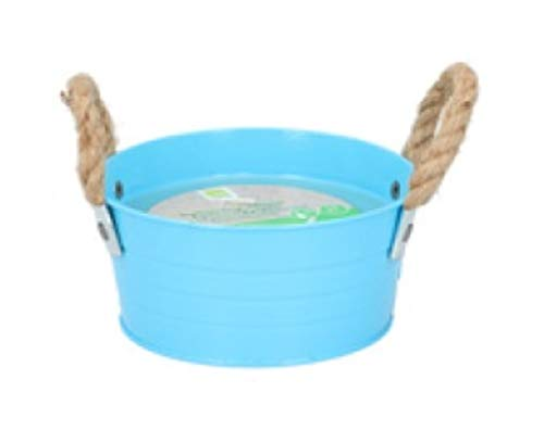 Citronella Candle Bucket Large Indoor Outdoor Garden Camping Citronella Scented Candles (Blue, 10 Hours)