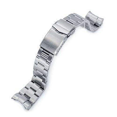 Strapcode 22mm Super 3D Oyster 316L Edelstahl Uhrenarmband für Tudor Black Bay, gebürsteter V-Verschluss