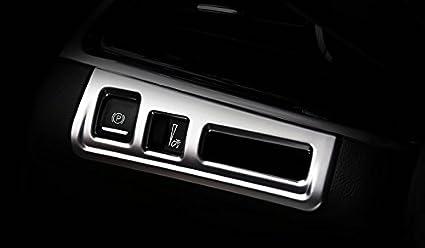 Eppar/® New Chrome ABS Light Control Cover for Cadillac XT5 2016 2017 2 Button