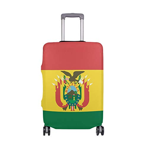 FANTAZIO Kofferschutzhülle Kofferhülle Kofferhülle Fahne von Bolivien NUR Cover