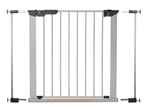 BabyDan Premier–Barrera de fijación por presión para puerta/escalera, color negro, 73,5-112,8cm