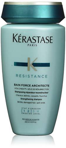 Kerastase Resistance Bain Force Architecte, Shampoo riparatore per capelli indeboliti e danneggiati, 250 ml