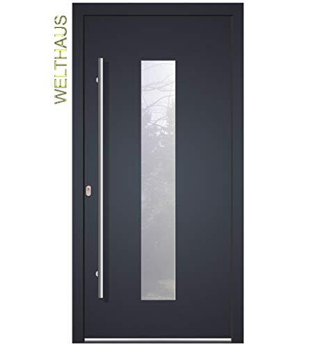 Haustür Welthaus WH75 Standardtür Aluminium mit Kunststoff LA 20 Tür (1000x2100 DIN links)