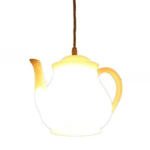 Vintage lampen pendelleuchte vintage pendelleuchte Teekanne Pendelleuchte amerikanischen LOFT Retro-Art Kreative Resin Deckenleuchten Cafe Bar Restaurant Living Room Bar Einzel Eisen Seil Kronleuchter