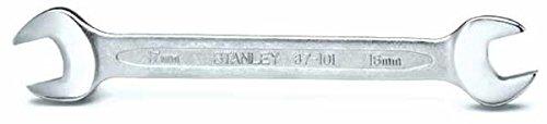 Preisvergleich Produktbild Stanley Doppel-Maulschlüssel (25x28 mm,  vernickelt,  MaxiDrive Profil,  polierter Kopf,  15° Anschlagwinkel) 4-87-106