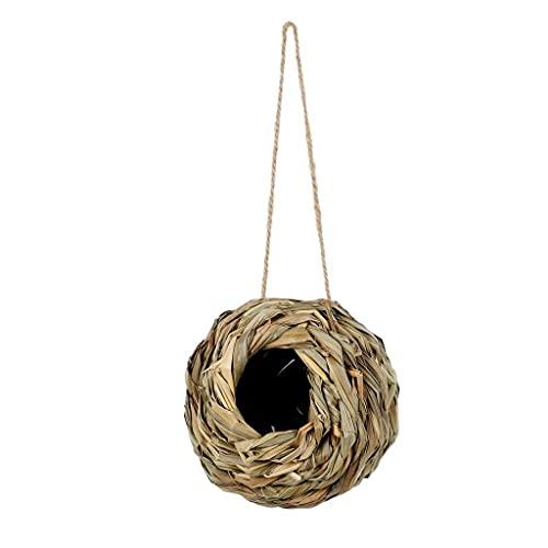 SCDCWW Colgando pájaro casa esférico pájaro Nido a Mano Tejido pájaro Jaula pájaro Nido Nuevo Jaula al Aire Libre Refugio Hideaway pájaro Nido Suministros de Aves