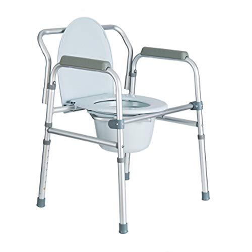 YXCA Toilet Mat Asiento de Inodoro Elevado Aleación de Aluminio Engrosada Plegable Mujeres Embarazadas Inodoro con discapacidad Silla de Inodoro elevadora