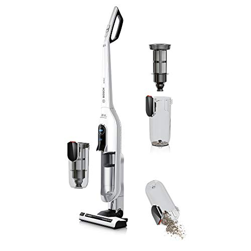 Bosch Electroménager Athlet BBH62860 - Aspirador escoba recargable, color blanco