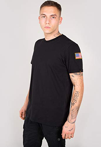 Alpha Industries NASA T-Shirt Schwarz XL