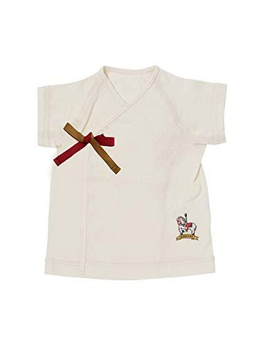Bijoux&Bee(ビジューアンドビー) 吊り天竺オーガニックコットン短肌着【日本製】 ホワイト FREE(50cm-70cm)