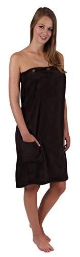 Betz Toalla para la Sauna para Mujeres Premium 85x140 cm con elástico Color marrón Oscuro