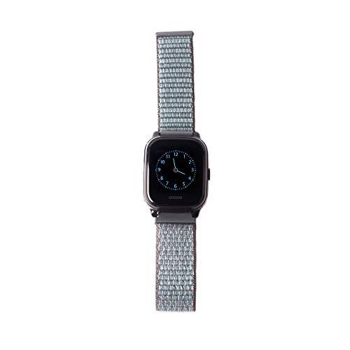 ANIO Armband für ANIO4 Touch, aus Textil mit Klettverschluss, weiches und atmungsaktives Uhrenarmband, Grau
