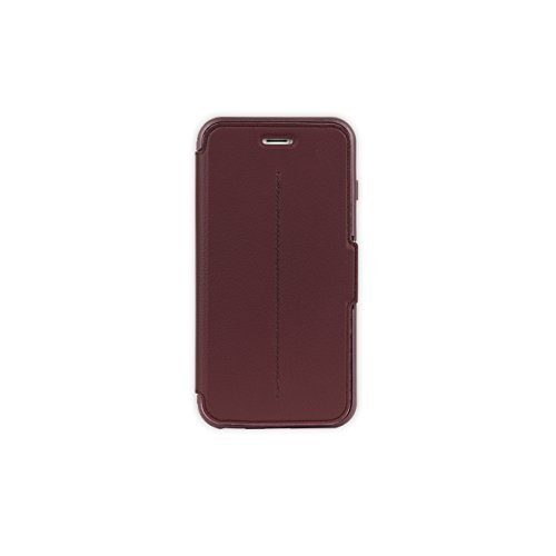 OtterBox STRADA SERIES iPhone 6 PLUS/6S PLUS Case - Retail Packaging - CHIC REVIVAL (WARM BLACK/MAROON)
