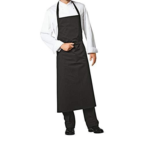 WLONLINE Delantales de 2 Bolsillos, de Color Negro, Lavables a máquina, cocinan, Cocina, Cocina, Babero, Delantal con Bolsillos y Correa Ajustable para Hombres, Mujeres Chefs y panaderos