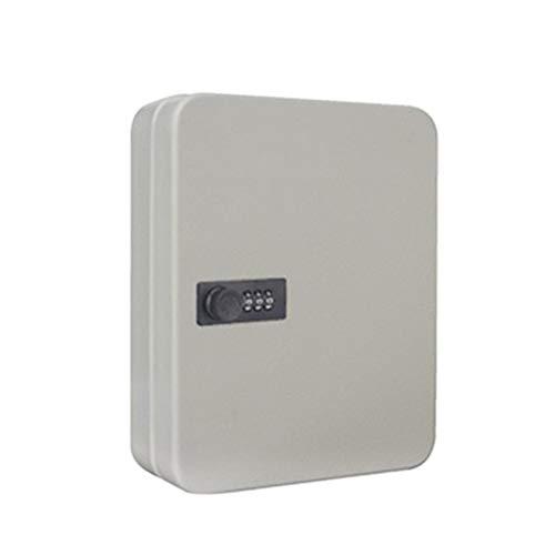 GeKLok Caja de seguridad de acero del gabinete de la llave 6/28 con la cerradura de combinación (blanco, tamaño: 6 llaves)