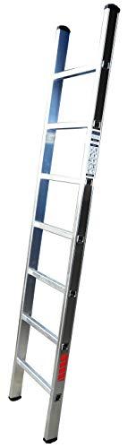 Homelux 825011 Escalera Aluminio Simple, 2 m, 7 Peldaños, 4 kg