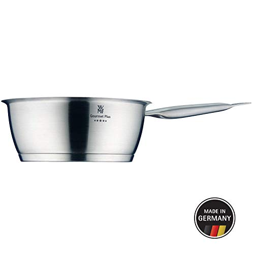 WMF Gourmet Plus saute pan 20 cm, saucepan 2.0l, Cromargan stainless steel matt, interior scaling, steam opening, suitable for induction