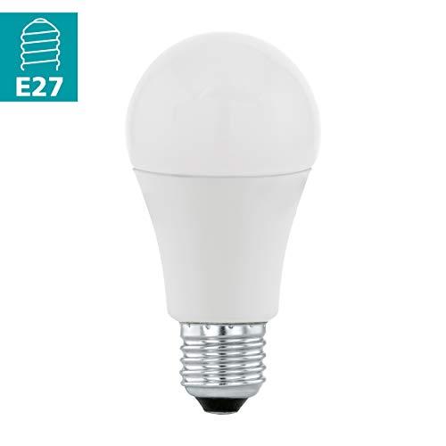 EGLO LED E27 Lampe, Glühbirne, LED Lampe, 12 Watt (entspricht 75 Watt), 1055 Lumen, E27 LED warmweiß, 3000 Kelvin, LED Leuchtmittel, Glühlampe A60, Ø 6 cm