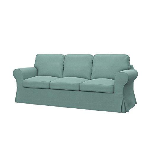 Soferia - IKEA EKTORP Funda para sofá Cama de 3 plazas, Elegance Mint
