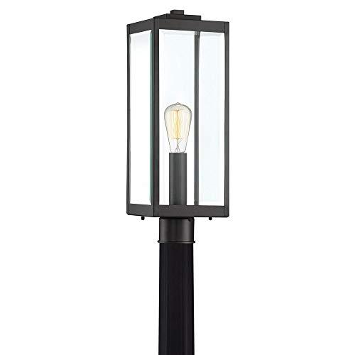 Quoizel WVR9007EK Westover Modern Industrial Outdoor Post Mount Lighting, 1-Light, 150 Watt, Earth Black (21