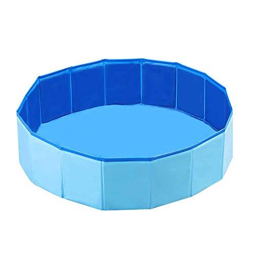 Decdeal Piscina Plegable para Perros Baño Portátil para Mascotas Pequeños Antideslizante Bañera...
