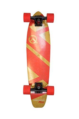 The Super Cruiser Mini 27quot Red Bamboo and Maple Longboard Skateboard