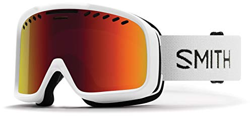 Smith Optics Project Adult Snow Goggles - White/Red Sol-X Mirror/One Size