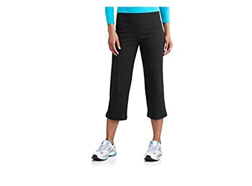 Womens Dri-more Stretch Core Capri Pants Activewear Casual Wear Black, L