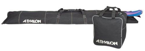Athalon zweiteiliges Ski und Boot Bag Combo, Unisex, schwarz