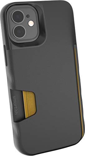 Smartish iPhone 12 Mini Wallet Case - Wallet Slayer Vol. 1 [Slim + Protective] Credit Card Holder (Silk) - Black Tie Affair
