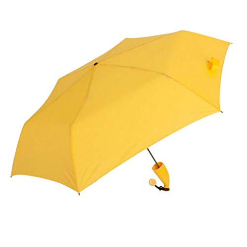 Fine Banana Shape Umbrella,Novel Folding Compact UV Sun Umbrella, Light Compact Umbrella,Mini Umbrella Portable Folding Umbrella for Men Women (Yellow)