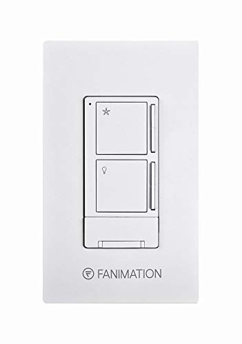 Fanimation WR501WH Ceiling Wall Control with Receiver-3 Fan Speeds and Light, White