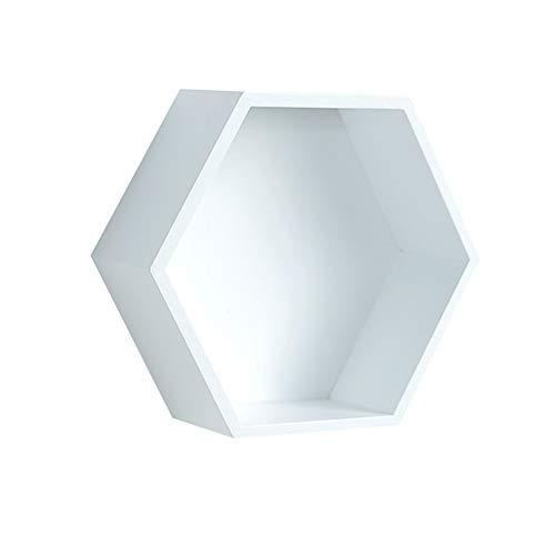 Soporte de pared hexagonal para decoración del hogar, ofici