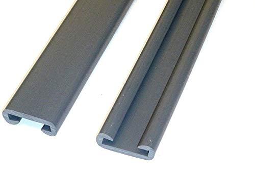 CHM !! Extrem widerstandsfähig und robust !! Handlauf aus PVC, Treppenhandlauf 40x8 mm in dunkelgrau. Verschiedene Längen von 5m - 20m. Der Handlauf ist sehr biegsam und leicht zu montieren. (10m)