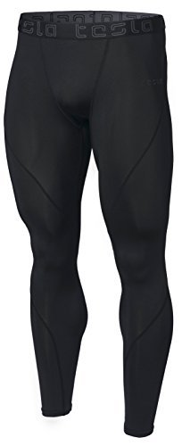 Tesla TM-MUP19-KLB_Small Men's Compression Pants Baselayer Cool Dry Sports Tights Leggings MUP19