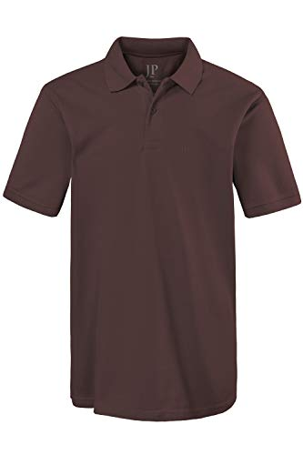 JP 1880 Herren große Größen bis 8XL, Poloshirt, Oberteil, Knopfleiste, Hemdkragen, Pique, braun 4XL 702560 30-4XL