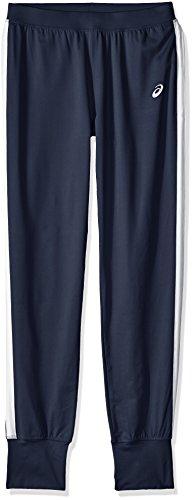 Asics mujer de altura tamaño pantalones - YB2686L, pantalones, Azul marino/Blanco