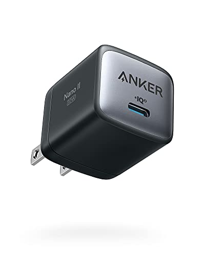 USB C Charger, Anker Nano II 30W Fast Charger Adapter, GaN II Compact Charger (Not Foldable) for MacBook Air/iPhone 12/12 Mini/12 Pro/Max, Galaxy S21/ S21+, Note 20/ Note 10, iPad Pro, Pixel, and More