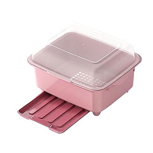POMNGYUIL Estante de cubiertos,Caja de almacenamiento de vajilla de cocina,Tipo de cajón Estante de escurridor,Soporte de vaso,Con tapa Accesorios de cocina para el hogar